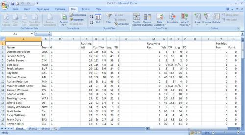 excel fantasy football spreadsheet nfl draft cheat sheet