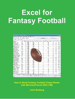 Book - Microsoft Excel 2003 for Fantasy Football Cheat Sheets