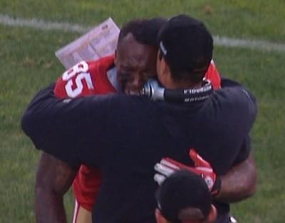 Vernon Davis cry san fransicco 49ers