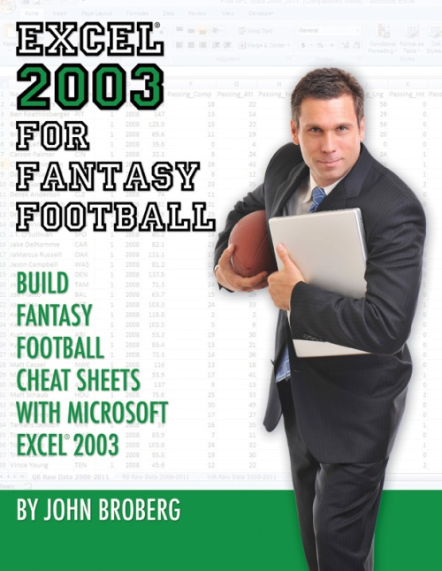 excel fantasy football book draft cheat sheet NFL pivottable vlookup statistics stats