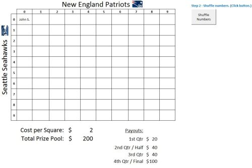 super bowl 2015 squares template - super bowl squares pool spreadsheet 2015